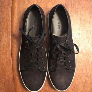 Vince Austin Black Leather Sneaker, Men's Size 11